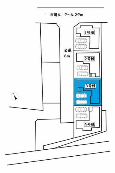 現況写真 敷地面積:130.07平米 駐車は並列2台駐車可能