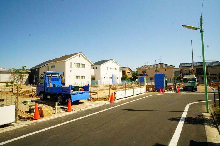 現況写真 どんな街並みが出来上がるか、今から完成が楽しみですね。
