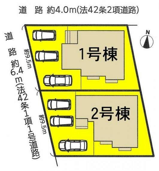 区画図 本号棟は1号棟です。