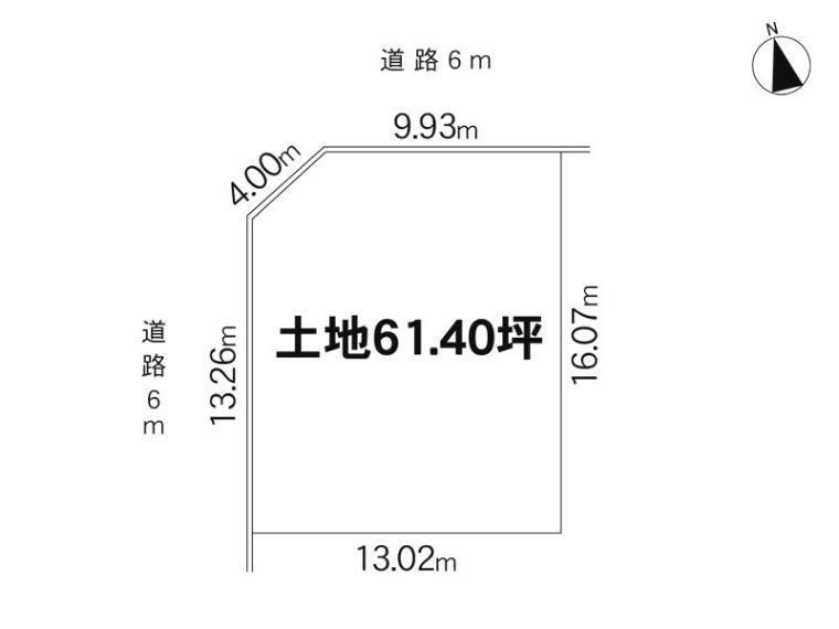 土地図面 203m2(61.40坪)