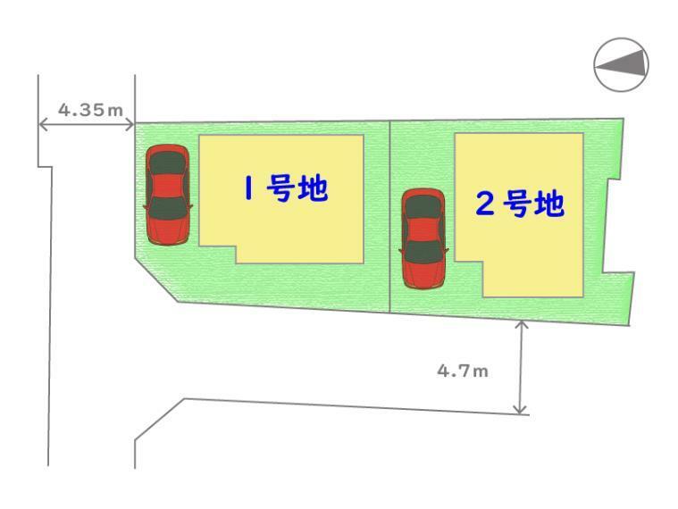 区画図 当該物件は2号地です。