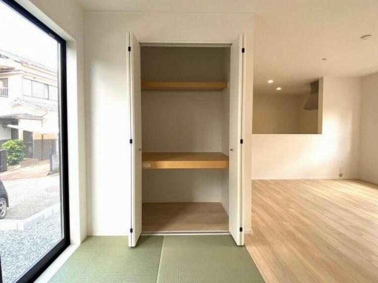 収納 季節のものもたくさん収納しておける便利なスペースです!