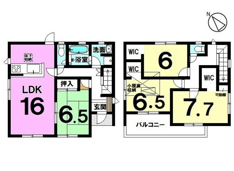 間取り図 2階全居室にはウォークインクローゼット付き!是非ハウスドゥ半田までお問い合わせ下さい。