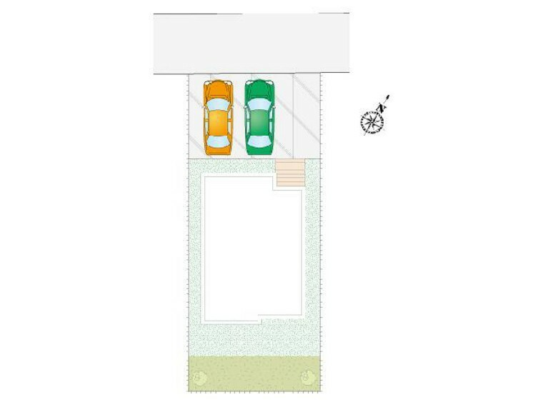 区画図 C号棟 区画図・・・並列で3台以上車をとめることができる駐車場です!お庭もありますのでガーデニングが趣味の方などにも嬉しいですね!