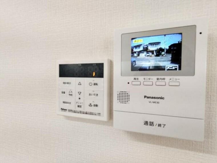 防犯設備 (リフォーム済)インターホンのTVモニターをLDKに設置しました。来客の顔を見て応対できますのでしつこいセールスにつかまらずにすみますね。