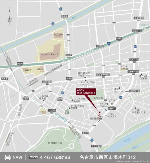 土地図面 現地案内図
