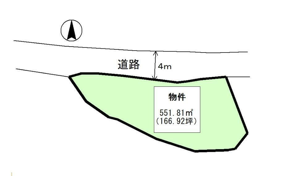 土地図面 公簿:551.81平米(166.92坪)