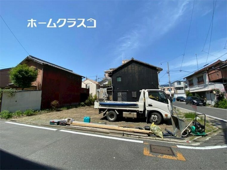 現況外観写真 5/10撮影。角地!中川区西日置に新築分譲住宅が2棟誕生します!