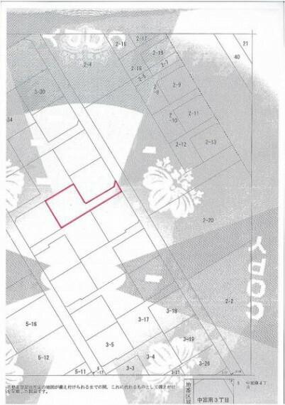 区画図 56坪の余裕のある敷地。