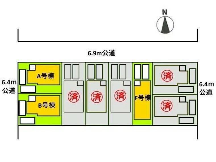 区画図 全体区画図 【名古屋市守山区幸心3丁目】