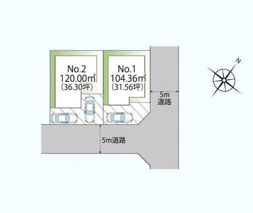 区画図:1号棟