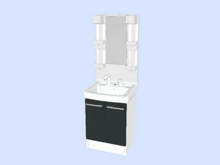 洗面化粧台 【同仕様写真】洗面化粧台は新品交換予定です。シャワーホースが伸び縮みするタイプを採用予定なので、朝シャンもラクラクできます。洗面台のお掃除もしやすいです。