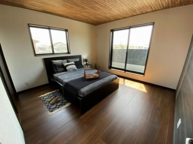 参考プラン完成予想図 \同仕様写真/2面採光で明るい洋室は寝室や子供部屋にぴったり!