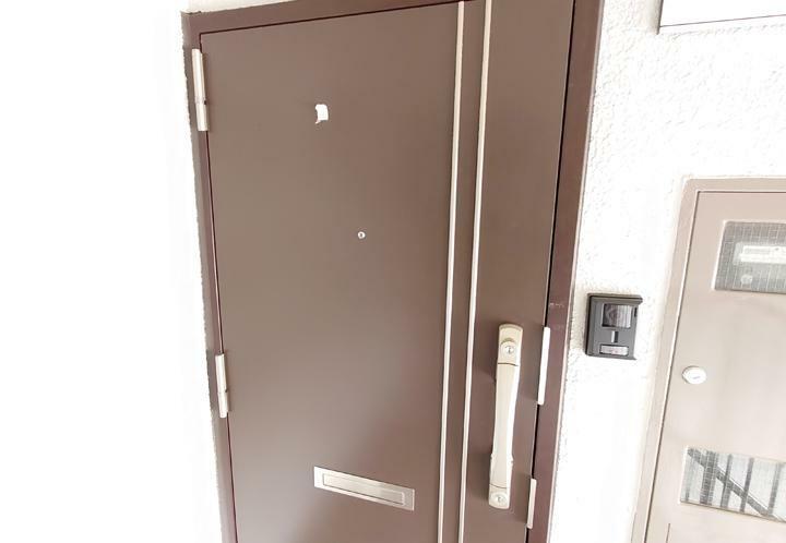玄関 玄関ドアが交換されておりきれいになっています。