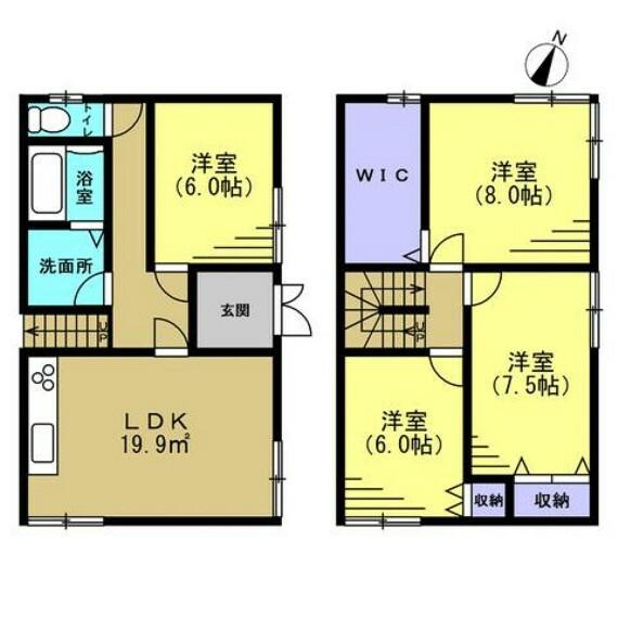 間取り図 (リフォーム後間取) 昭和63年2月築・木造2階建て・建物面積 101.70m2(30.76坪)リフォームで4LDKに変更予定です。