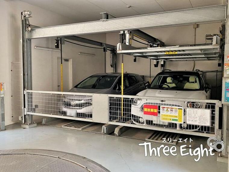 駐車場 駐車場は機械式です。
