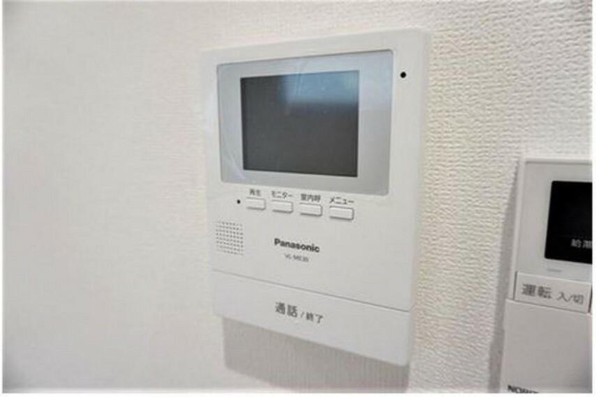 防犯設備 (同仕様写真)TVモニター付きインターホンでセキュリティも安心。セールスマン対策にも^^
