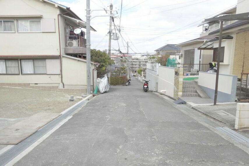 現況写真 物件の東側前面道路(南側から)[2021年2月3日撮影]