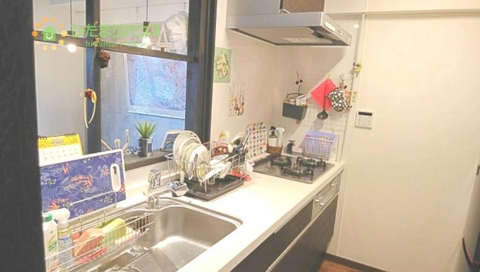 キッチン ワイドなキッチンスペースなので、2品、3品同時に作れちゃいますね( *´艸`)