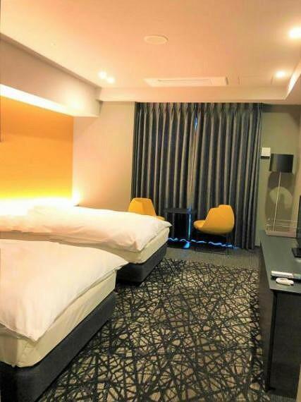ゲストルームはホテルのような雰囲気です。