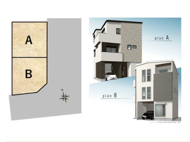 区画図 全体区画図 建物イメージ
