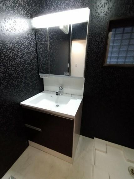 洗面化粧台 【シャンプードレッサー】 たっぷりの収納を設けたシャワー付き洗面台
