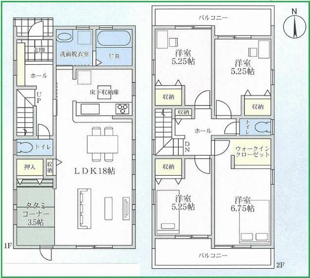 間取り図 敷地面積 122.91平米(37.18坪) 建築面積 106平米(32.06坪)  広々LDK!収納場所豊富なご住宅です!