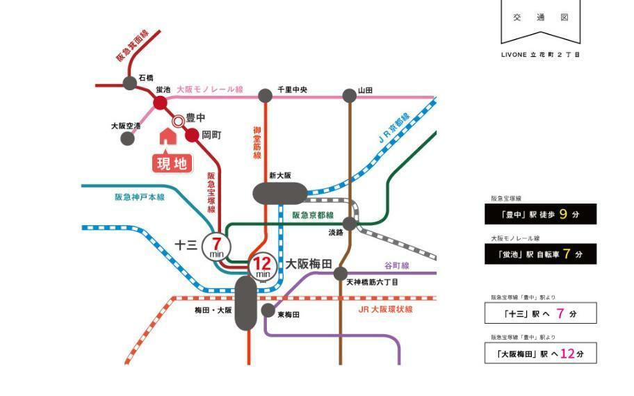 梅田方面へのアクセスの良さはもちろん、神戸・宝塚方面へのアクセスも良く、ご実家やご夫婦の職場など、大阪と神戸・宝塚方面に分かれている方にも便利な路線です。