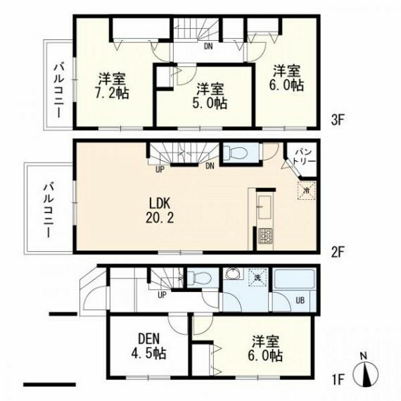 参考プラン間取り図 参考プラン(4SLDK 建物価格:1490万 延床面積:115.27m2 車庫面積:5.29m2含む)