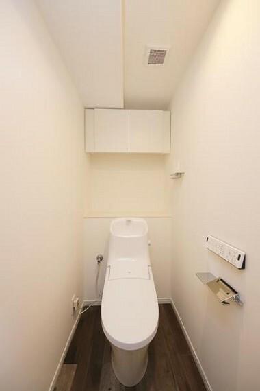 トイレ 新規交換されたおトイレは、水栓周りに水垢が溜まりにくい構造!お掃除の回数も減らせそうですね!