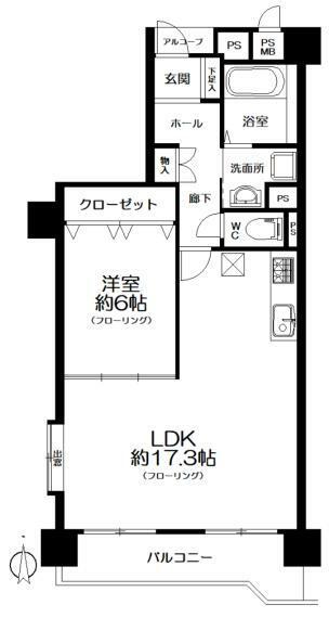間取り図 間取り図(2LDK→1LDKに変更)