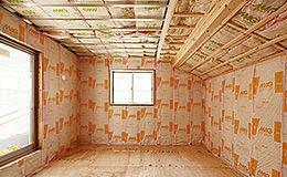 構造・工法・仕様 壁用断熱材は主にグラスウール断熱材を採用しています