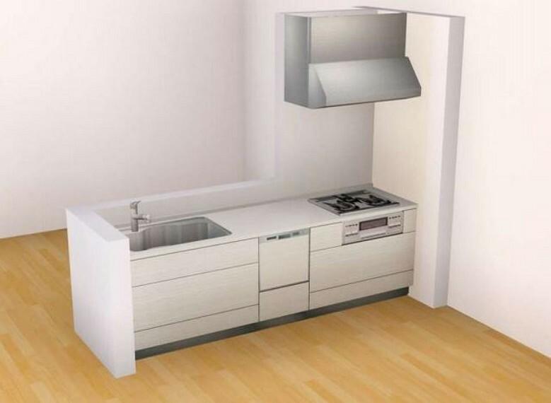 キッチン 「完成予想図」対面式キッチンでお子様の様子を見ながらお料理ができますね^^家族とのコミュニケーションも楽しめそうですね^^