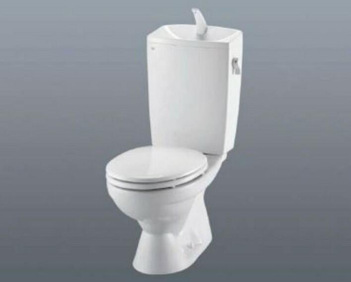 トイレ 「完成予想図」ウォシュレット、暖房便座、節電・節水機能など、使い勝手のよい高機能トイレです^^1階2階の2ヶ所にトイレがあるので、忙しい朝にもゆとりができますね^^
