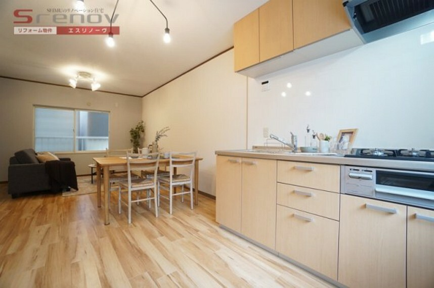 キッチン 2020年12月!室内全面リフォーム完了しました! 現地ご案内予約受付中です