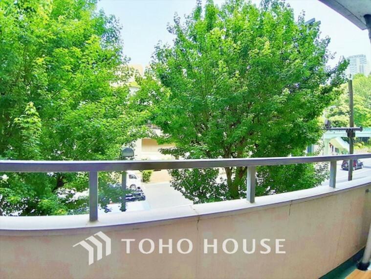 眺望 【Balcony】青空からの陽光を浴びるバルコニー爽やかな涼風が吹き抜け、周辺には戸建住宅街の景色が広がります。心を落ち着かせ開放してくれる眺望が今日もご家族を包み込みます。