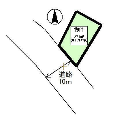 土地図面 公簿:271平米(81.97坪)