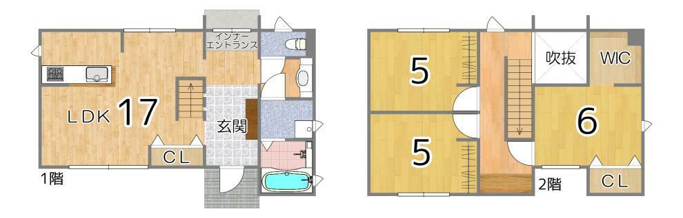 間取り図 2階にはリモートワークにもおすすめなワークスペースがあります!