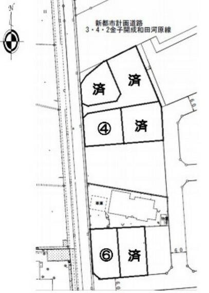 区画図 敷地面積はゆとりある約55坪