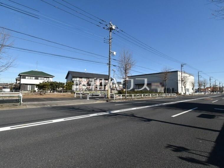 現況写真 接道状況および現場風景 【武蔵村山市神明1丁目】
