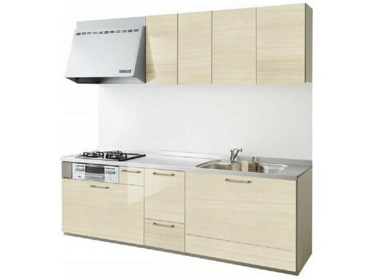 【同仕様写真】キッチンは永大産業製の新品に交換します。天板は人工大理石製なので、熱に強く傷つきにくいため毎日のお手入れが簡単です。