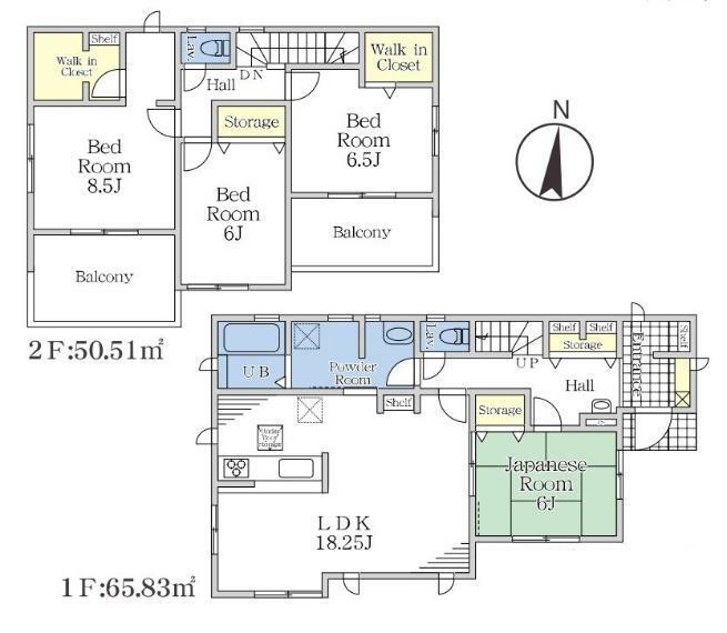 間取り図 【2号棟間取り図】4LDK+2WIC+SIC 建物面積116.34平米(35.19坪)