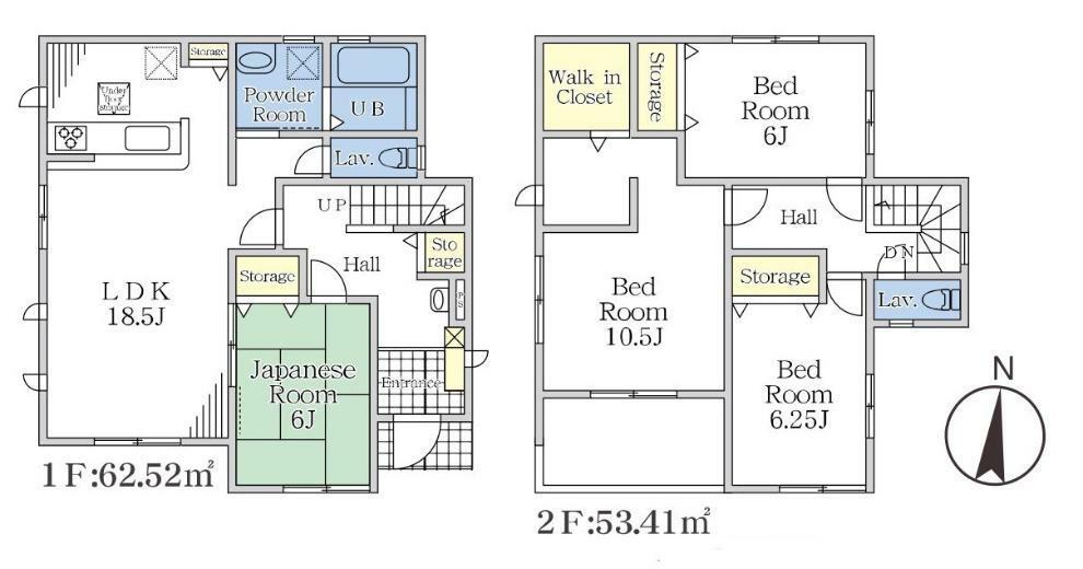 間取り図 【3号棟間取り図】4LDK+WIC 建物面積115.93平米(35.06坪)