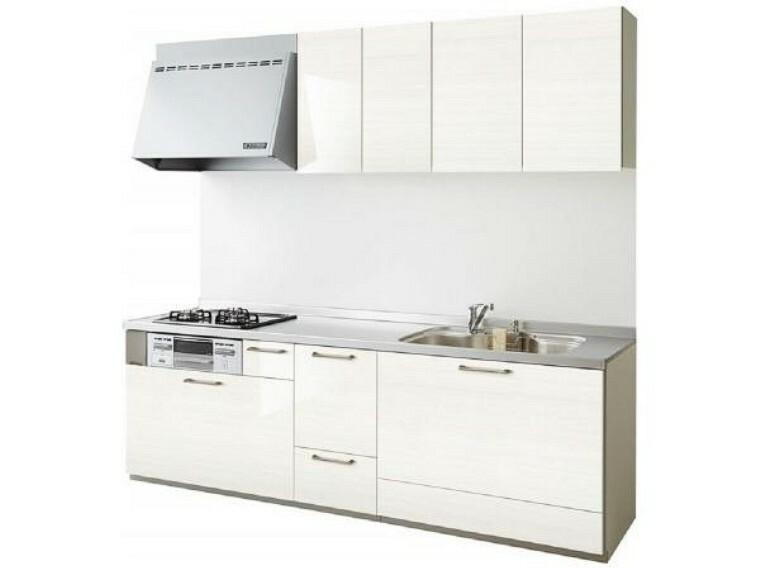 キッチン 【同仕様写真】交換予定のキッチンのシンクは汚れが付きにくく熱に強い人工大理石製です。天板とシンクの境目に継ぎ目がないのでお掃除ラクラク。キッチンをより清潔に保てます。