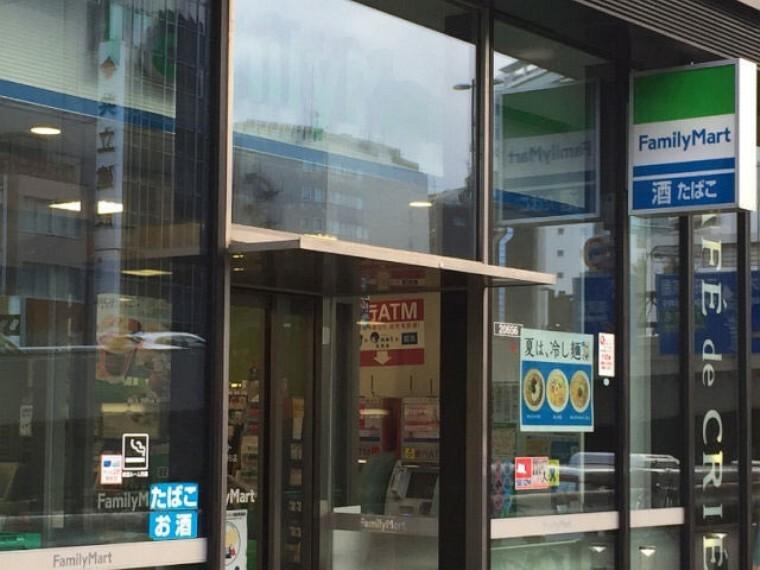 コンビニ 【コンビニエンスストア】ファミリーマート 荒川西尾久一丁目店まで434m