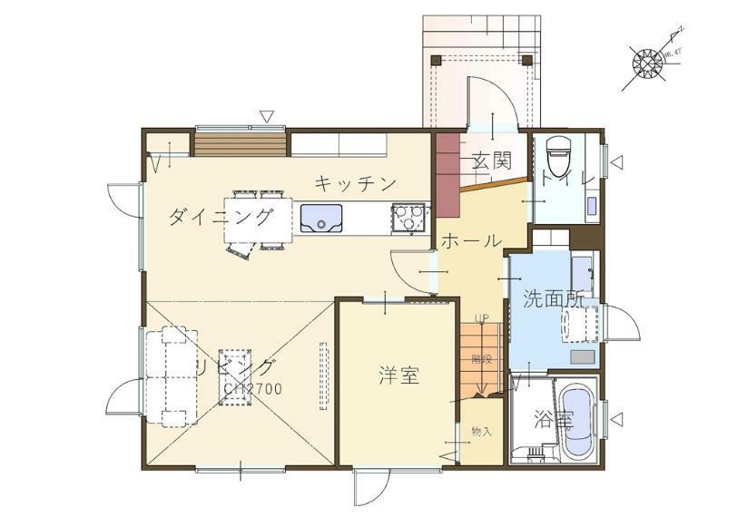 間取り図 1階平面図
