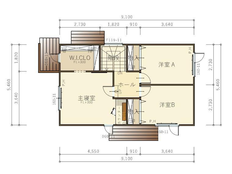 間取り図 『カルマル』2階平面図