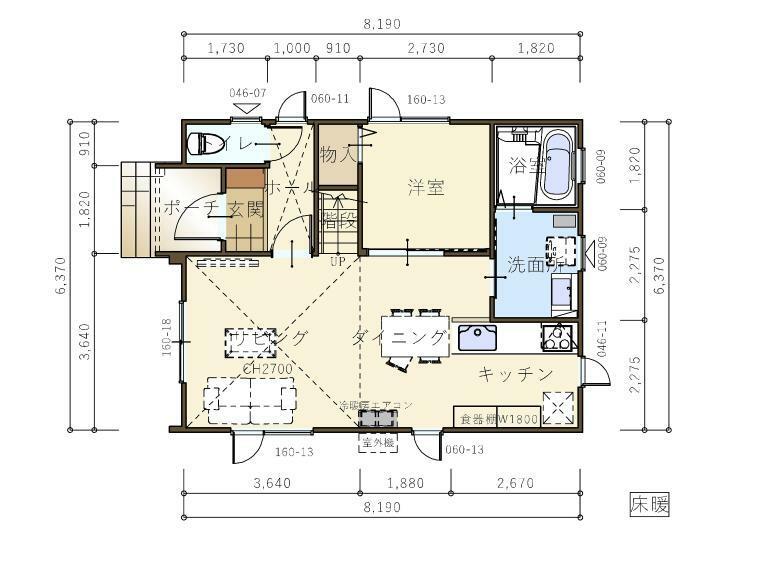 間取り図 『ヴィスビュー』1階平面図