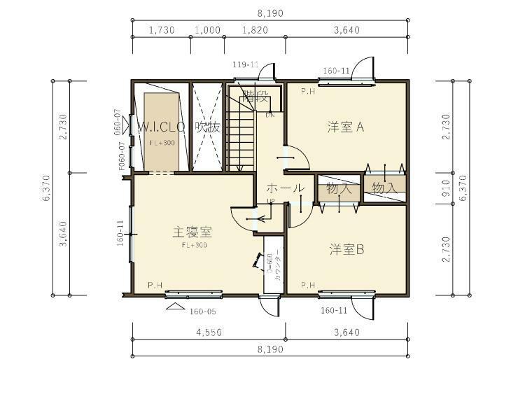 間取り図 『ヴィスビュー』2階平面図