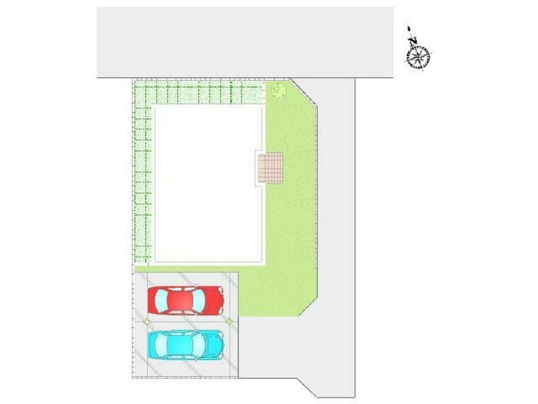 区画図 見晴町A号棟 区画図・・・日当たり良好。並列2台駐車可能!